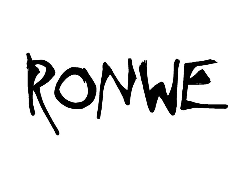 Ronwe typography illustrator art design typeface designer typeface design typeface