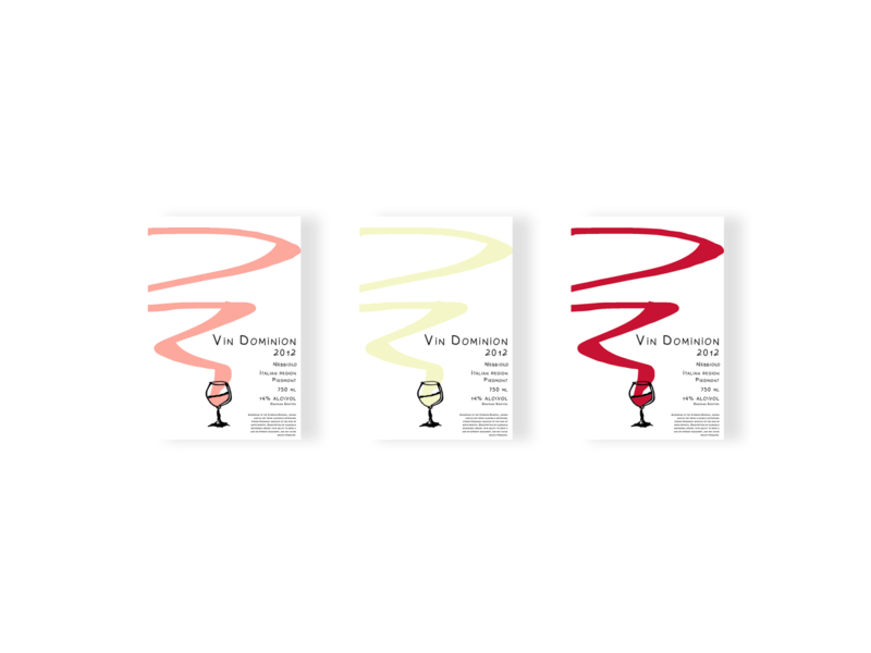 wine colors- Vin Dominion label colors typography flat minimal icon branding illustrator art design wine label wine