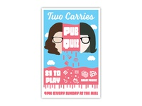 Two Carries Pub Quiz Poster