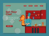 Illustration for Chef Hiring website- Kitchen.co