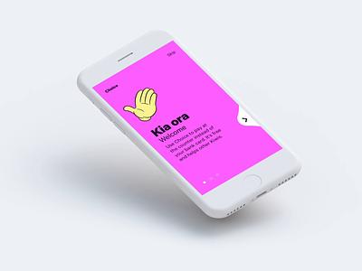 Onboarding prototype ui onboarding ui pink emoji iphone app onboarding