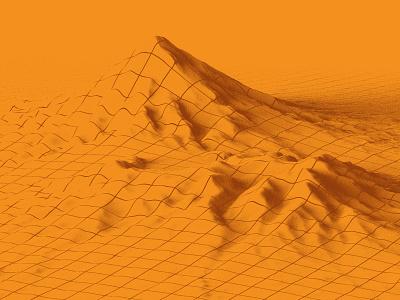 Mapping data mountain cinema4d 3d orange grid map