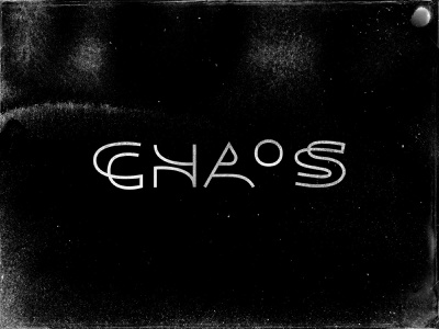 Chaos fontself experiment lettering stroke line chaos