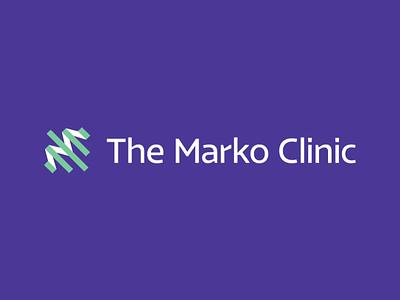 Marko dna graph m wellness health identity logo