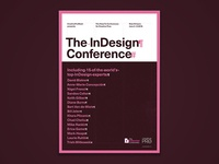 InDesign Conference poster