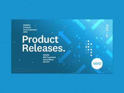 Product Update update software blue arrow card xero