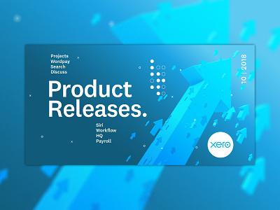 Product Release software update blue xero arrow