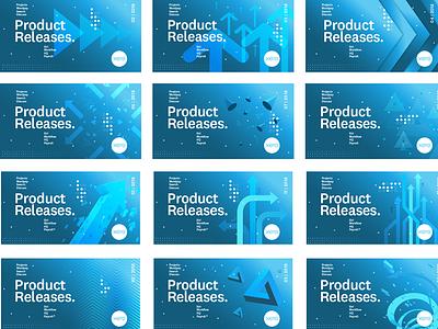 Product releases update saas gradient blue arrow xero