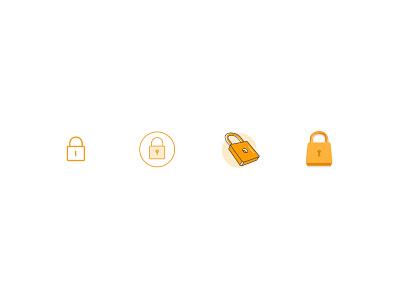 padlock line icon padlock security
