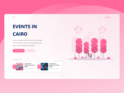 Events Header design (Daily UI)