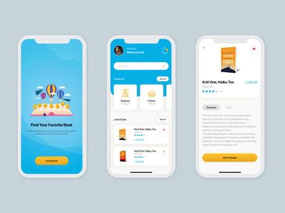 Book store app design concept