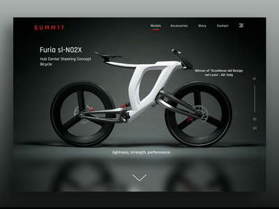 3D-Printed Concept Bike - Furia typography concept gui user experience design ux ui product bike web