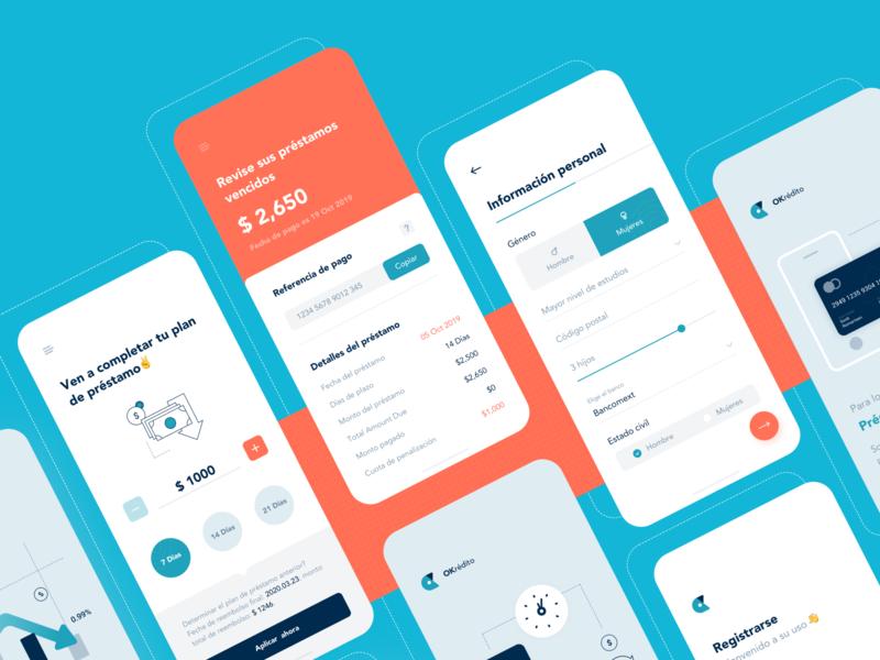 Financial lending illustration icon ux ui app financial lists app design design card