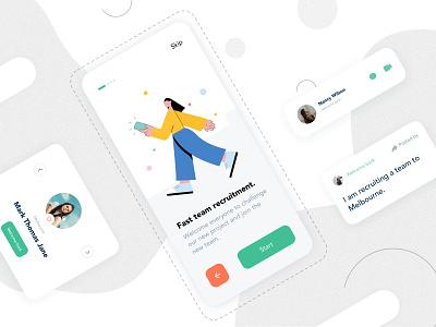 Mobile App Interface fashion mobile ux icon illustration app ui lists app design card