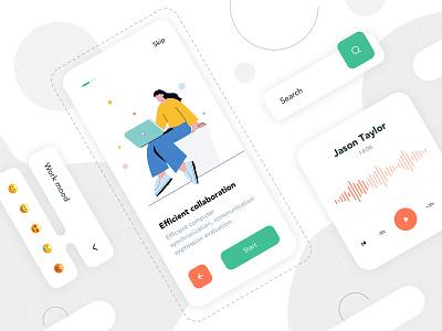 Mobile App Interface fashion ux icon illustration app ui lists design app design card