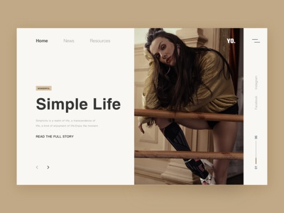 Simple life women landing page web product flat loader homepage blank clean fashion concept grid