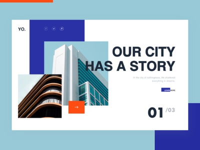 Our city has a story web product page loader landing homepage grid flat fashion concept clean blank