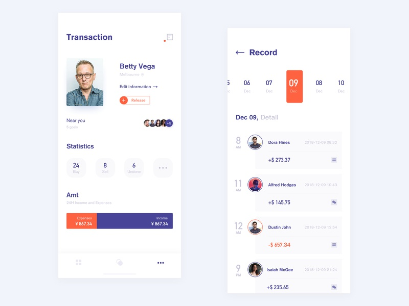 Digital currency application fashion ux blank interface concept logo icon illustration mobile ui graph design app lists app design financial card