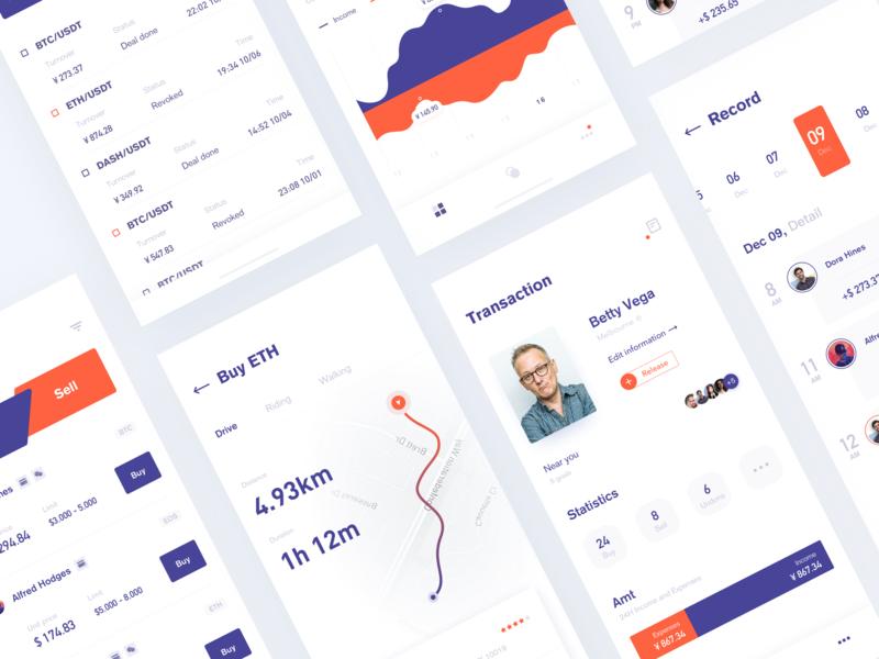 Digital currency application clean blank app design lists ux interface icon web design fashion mobile illustration graph ui design app financial card