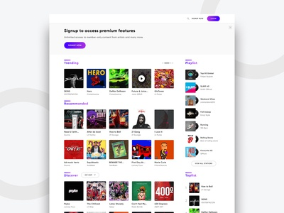 Homepage for Music