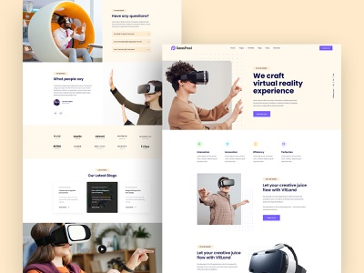VR Landing Page agency adobe xd layout exploration ui clean ui minimal 2020 trend landing page design virtual reality ar vr