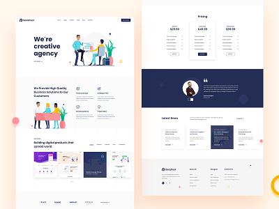 Saaspool- Creative Agency saas design clean ui adobe xd 2020 trend layout exploration agency landing page agency website creative agency creative agency