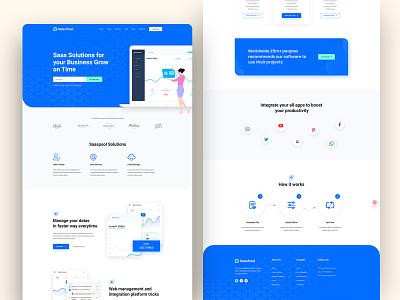Saaspool- Saas Landing Page creative colorful saas website agency ui saas illustration adobe xd 2020 trend saas design saas landing page