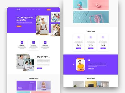 Xfoilo- Agency Landing Page branding adobe xd ui 2020 trend layout exploration creative agency digital agency agency