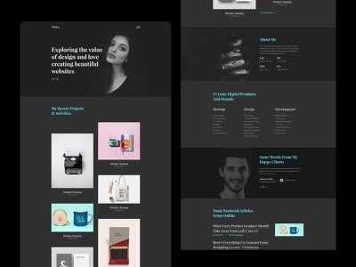 Creative Portfolio Landing Page clean ui 2020 trend layout exploration dark agency vcard personal portfolio creative portfolio portfolio
