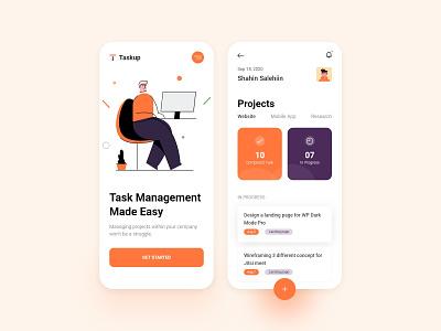 Task & Project Management App Design illustration app ui task management app project management todolist task