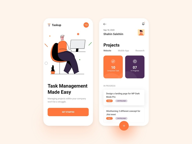 Task & Project Management App Design illustration app ui task management app project management todolist task