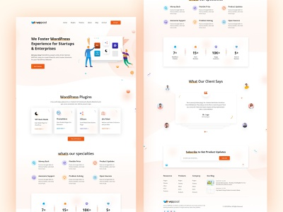 WPPOOL- Creative Agency Website gradients colorful 2020 trend illustration agency website creative agency