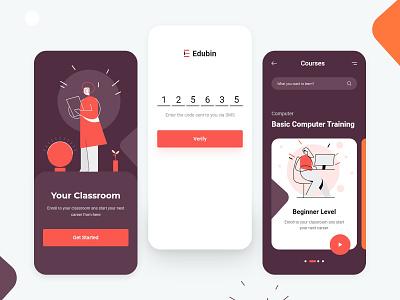 Education Mobile App v2 colorful 2020 trend adobe xd ui mobile app course online education education