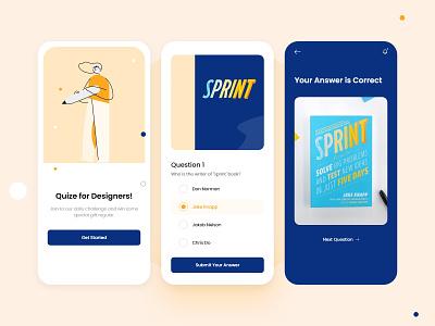 Quiz- Mobile App UI UX Design ios app design android app 2020 trend layout exploration colorful ui app ui mobile app quiz app education