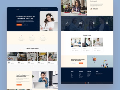 Education Landing Page ui landing page online course elearning education