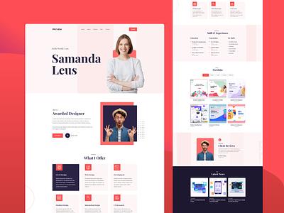 Personal Portfolio HTML5 Template developer designer freelancer cv resume creative agency personal portfolio portfolio