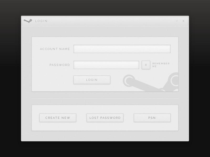 Steam Login UI Redesign by doot0 | Dribbble | Dribbble