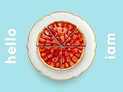 helloiam.yummytart branding logo cake strawberry identity