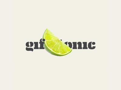 A logo for gif&tonic logo lime eames typography ea type branding blog animation gif