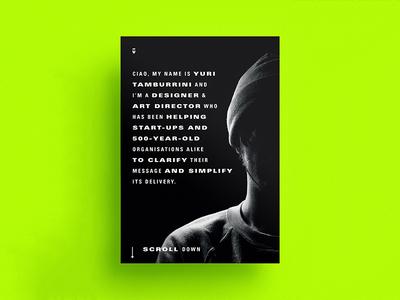 2017 Portfolio Cover dank editorial design black and white layout typography screen friendly personal branding mobile portfolio portfolio a4 vertical 2017