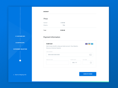 Credit Card Checkout Page payment blue flat discover dailyu vector ux ui design credit card