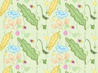 Greenish print wrap