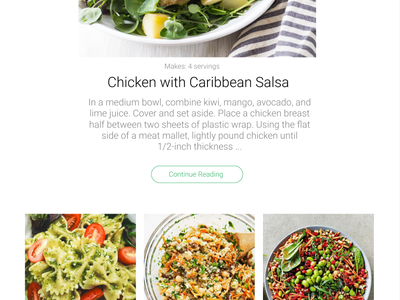 Recipes Landing Page flat screenshot homepage recipe app cook design dailyu ui  ux landing page design landing page