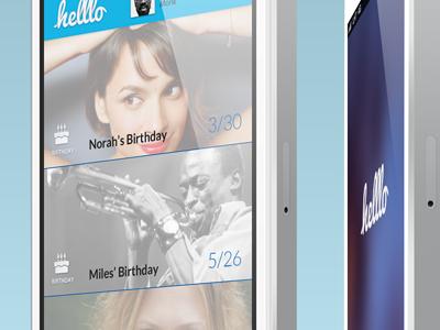 UI - Helllo Event Feed ui messaging ios app mobile