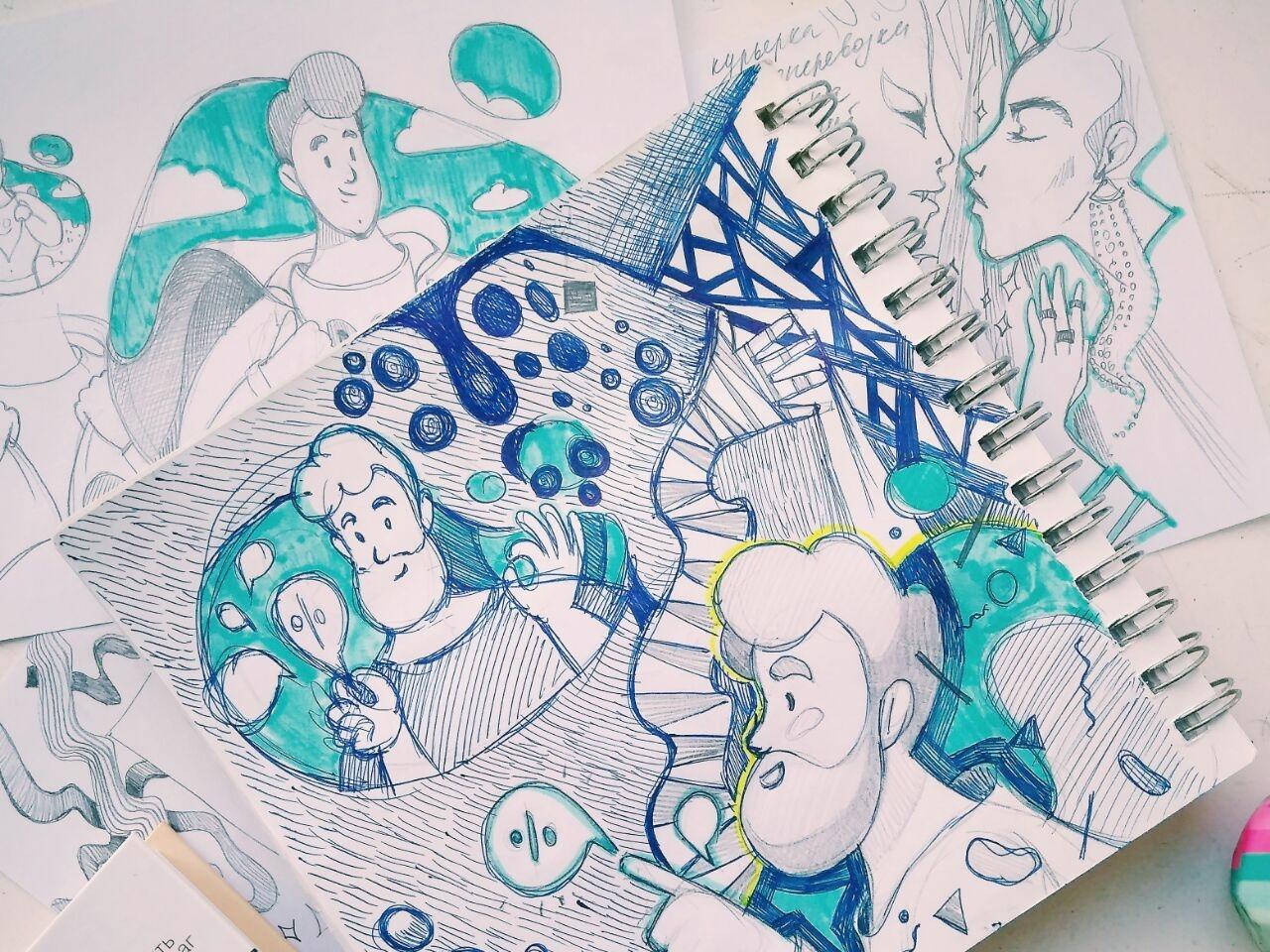 Sketch Time! sketchbook paper sketch pen drawing web illustration illustrator artwork illustration drawing character design character art character art