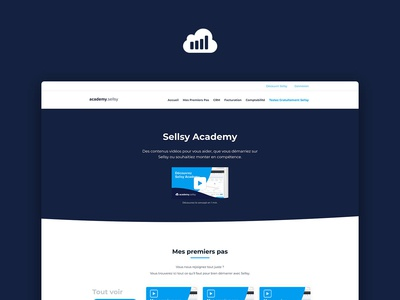 Sellsy Rebranding — Academy website webdesign web uxdesign ux uidesign ui front design branding