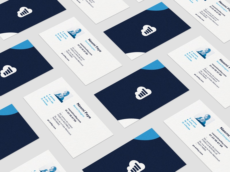 Sellsy Rebranding — Cartes de visite design illustration vector soft touch print business card design business cards branding