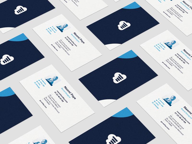 Sellsy Rebranding — Cartes de visite design illustration vector soft touch print business card design business cards branding