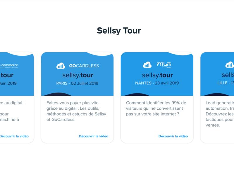 Sellsy Tour - Vignettes website webdesign web uxdesign ux front uidesign ui design branding