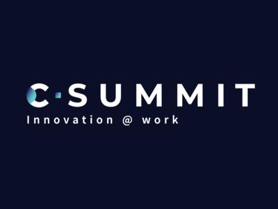 C-Summit — Logo typography vector logo design branding